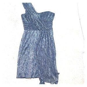 Asymmetrical One Shoulder Shimmer Dress